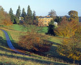 A view at the Brockhampton Estate in autumn with a country house (Not NT)