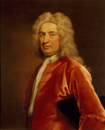SIR JOHN TREVELYAN by John Vanderbank (1694-1739), in the Dining Room at Dunster Castle