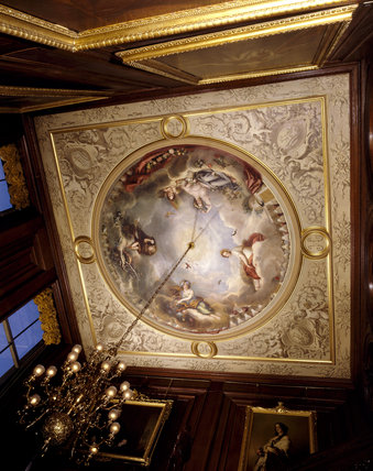 The Staircase Ceiling, painted by A.L. Hervieu