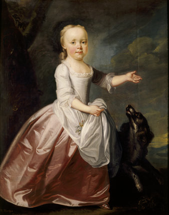 MARGARET LUTTRELL AS A CHILD, by Richard Phelps in the Drawing Room at Dunster Castle