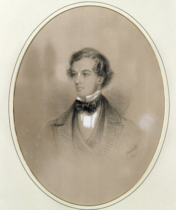 JAMES STOVIN PENNYMAN, 1851 - a coloured chalk portrait by G