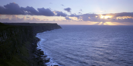 A beautiful sunset at Altachnile Bay, on Rathlin Island, County Antrim