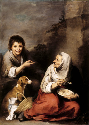 Murillo Quot Boy Teasing An Old Woman Quot At Dyrham Park