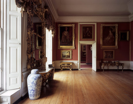 The Red Room at Petworth House showing the North Wall, to recreate Turner's view of it in c.1827.