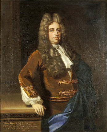 WILLIAM BLATHWAYT portrait by Michael Dahl (1656-1743) oil on canvas, in the Great Hall at Dyrham Park