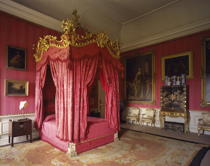 Mrs Wyndham's Bedroom at Petworth looking north-east