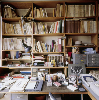 The Study at 2 Willow Road contains an important collection of architectural books