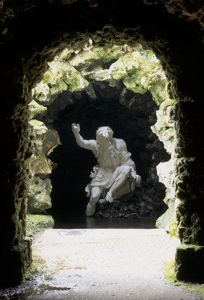River God by John Cheere (1709-87) in the Grotto at Stourhead