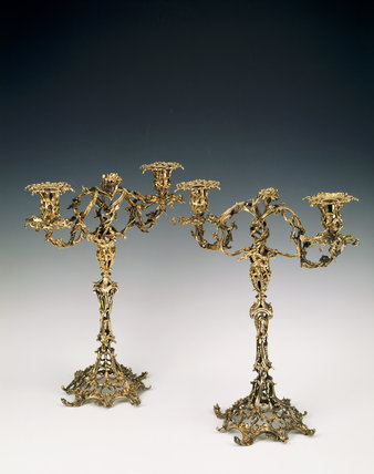 Candelabra by Lewis Herne and Francis Butty, 1757, at Anglesey Abbey