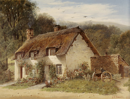COTTAGE. In the Paintings Store at Dunster Castle