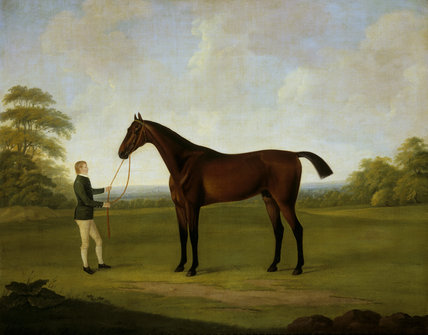 Painting depicting an equestrian scene at Saltram