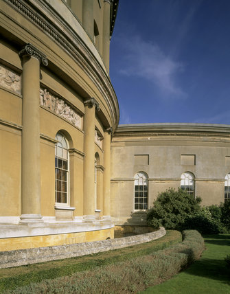 Part of the central rotunda and curved corridor at Ickworth House in Suffolk