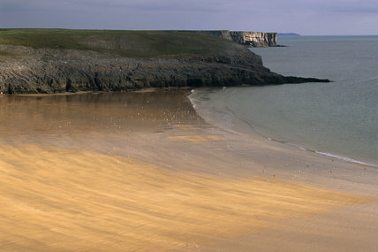 View of the beach at Broadhaven on the Stackpole Estate, Pembrokeshire