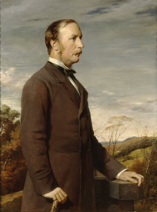 WILLIAM JOHN LEGH, 1ST LORD NEWTON (1828-98) by George Richmond (1809-96)