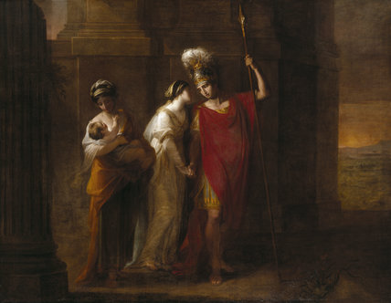 HECTOR TAKING LEAVE OF ANDROMACHE by Angelica Kauffman (1741- 1807)