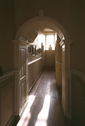 A view down along the Corridor looking towards the bust of William Wordsworth
