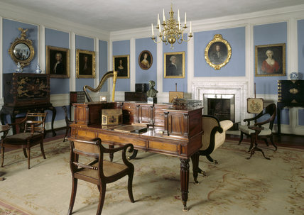 View of the Blue Parlour at Lacock Abbey