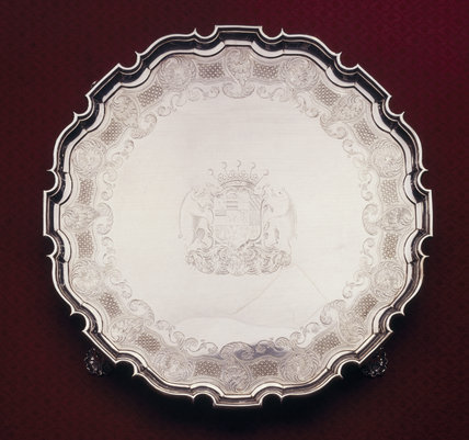Silver salver by David Willaum II (1693-1791)
