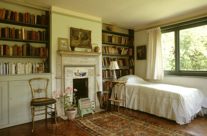 Virginia Woolf's bedroom at Monk's House in East Sussex