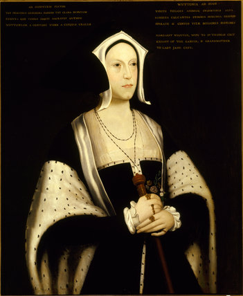 MARGARET WOOTTON, English C16th from Dunham Massey she was the wife of Thomas Grey, 1st Marquis of Dorset and grandmother of Lady Jane Grey