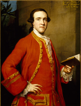 GEORGE HARRY GREY, 5th EARL OF STAMFORD by Anton Rephael Mengs (1728-1779) from Dunham Massey