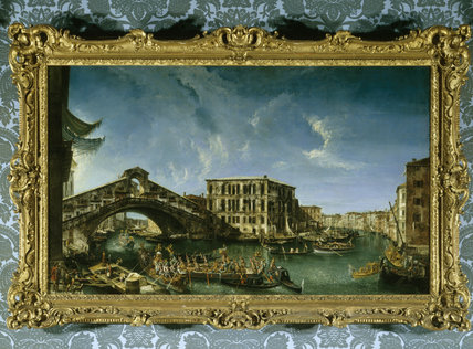 VENICE: THE RIALTO BRIDGE by Michele Giovanni Marieschi ((1710-1743)