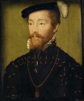 AN UNKNOWN MAN, style of Corneille de Lyon (active 1533/4-1574) from the Corridor at Polesden Lacey