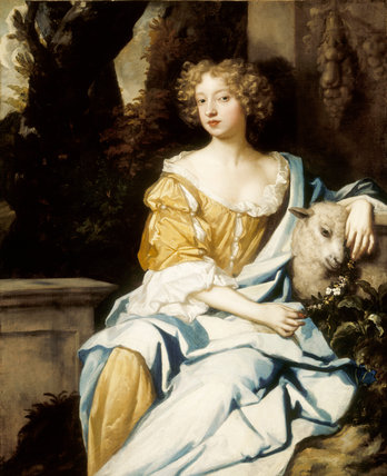 NELL GWYN (1650-87) Studio of Lely, from Sudbury Hall