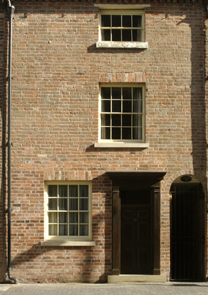 Exterior view of the Birmingham Back to Backs around Court 15, on Inge Street