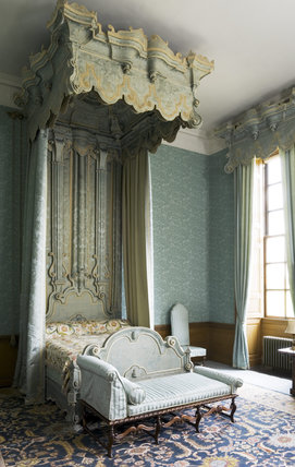 The Blue Bedroom at Belton House, Lincolnshire, UK