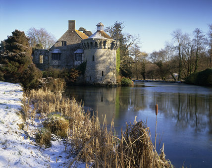 Scotney Castle, taken in the bright winter's sun