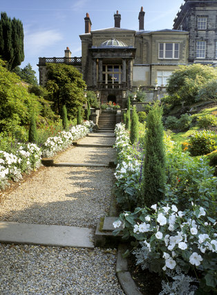 The Italian garden at Biddulph Grange looking towards the house