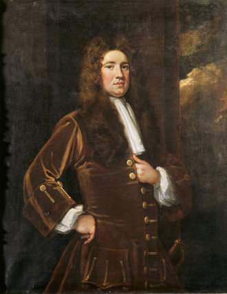 SIR CHARLES FIREBRACE, 2nd Bt (1680-1727), English, early C18th, on the Staircase at Melford Hall