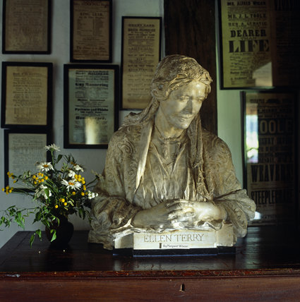 Bust of Ellen Terry, at Smallhythe, the farmhouse home she acquired in 1899