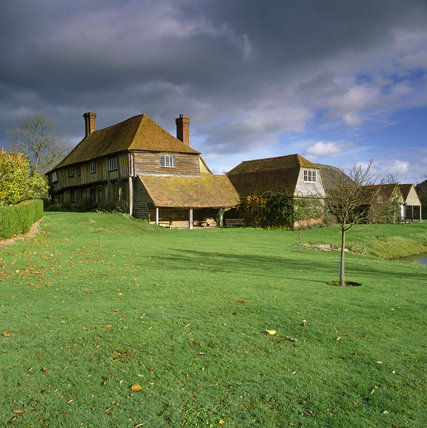 The exterior of Smallhythe, the 16th century farmhouse Ellen Terry acquired in 1899