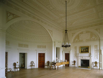 View of the Top Hall at Nostell Priory remodelled by Robert Adam in the Classical and Etruscan style