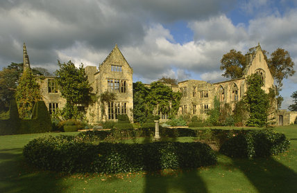 This is a view of Nymans Garden, West Sussex, which also shows the House