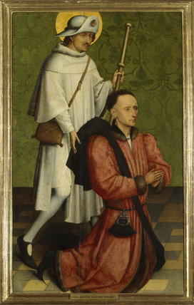 ST JAMES WITH A DONOR (fragment) attributed to Van Der Weyden, Rogier (1399-1464)