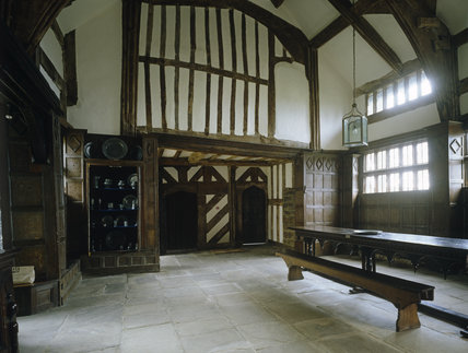 View of the west wall and refectory table (c. 1546)
