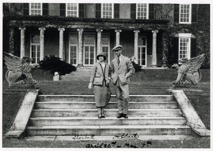 The Duke (later George VI) and Duchess of York on their honeymoon at Polesden Lacey