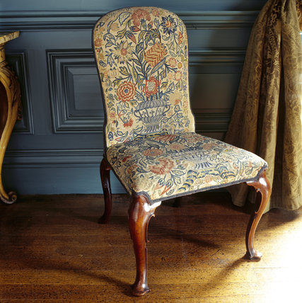 A Queen Anne chair in the Drawing Room of the Treasurer's House, York