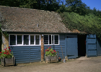 The substanial Gardener's Shed in the garden at Hidcote Manor