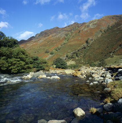 A view of Langstrath Beck in Borrowdale