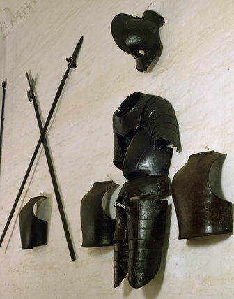 The Armoury at Oxburgh, arms and armour mostly of the Civil war period 1642-49