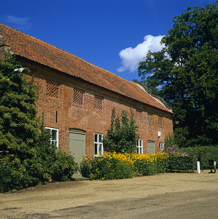 The Barn on the Blickling Hall estate, a fine brick built structure