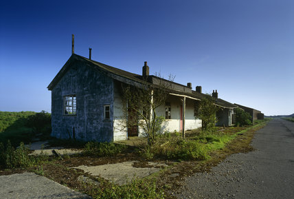 The `Street' of derelict buildings, running parallel to Stony Ditch, all with broken windows and sagging roofs