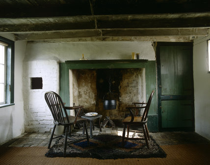A interior view of the Fenman's Cottage at Wicken Fen