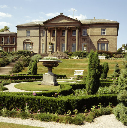 View of the south elevation of the mansion at Tatton Park from the parterre