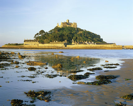 A view of St.Michael's Mount, with the Castle atop the Mount