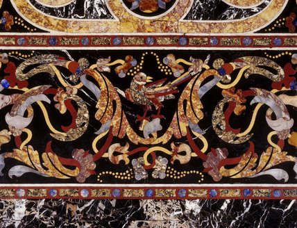 Detail of Pietra Dura (hardstone) table top made c 1600